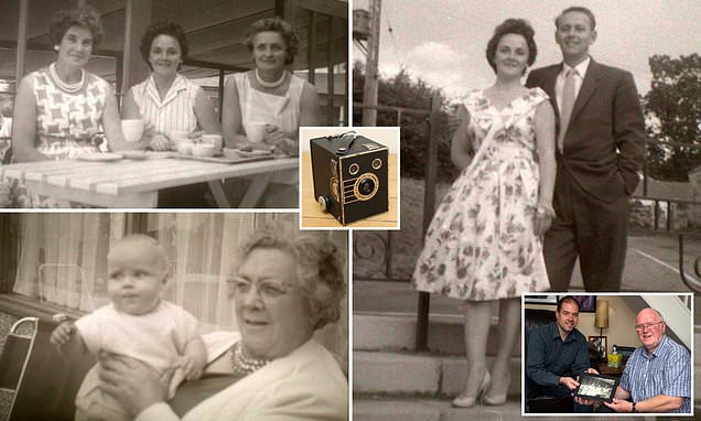 Photographer finds pictures of his mother in old Brownie Box camera