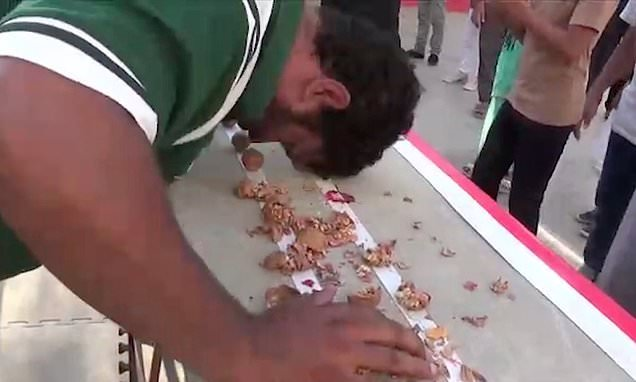 Martial artist cracks 247 walnuts open with his HEAD