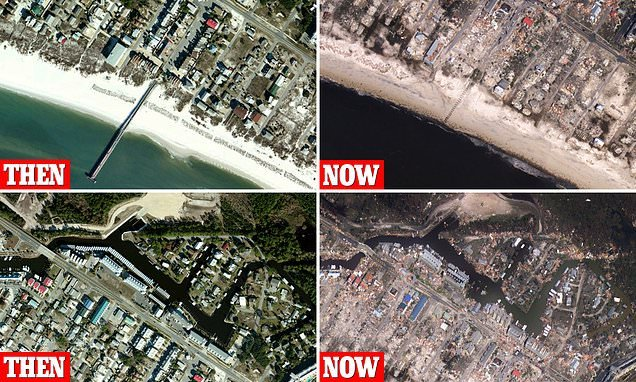New before and after photos show devastation of Hurricane Michael