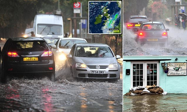 Britain faces MORE flood chaos today with 40 alerts across UK