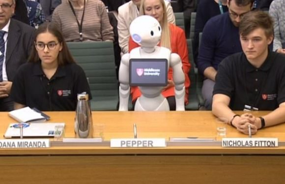 Parliamentary committee makes history by taking evidence from a ROBOT