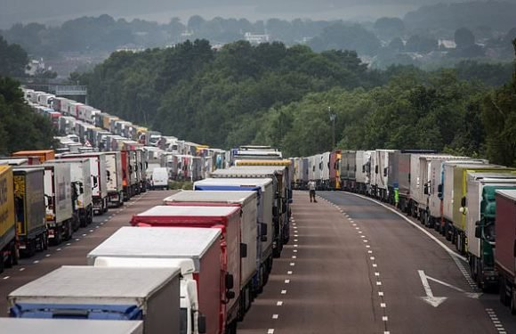More than 10,000 lorries could be parked on Kent roads post Brexit
