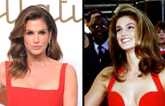 This Red Dress Moment Proves Cindy Crawford Is a Time Traveler