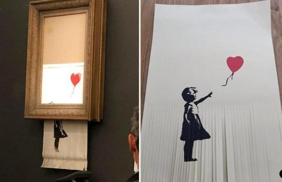 A £40k Girl With A Balloon print is now worth just £1 after owner copied Banksy by shredding it 'to increase value'