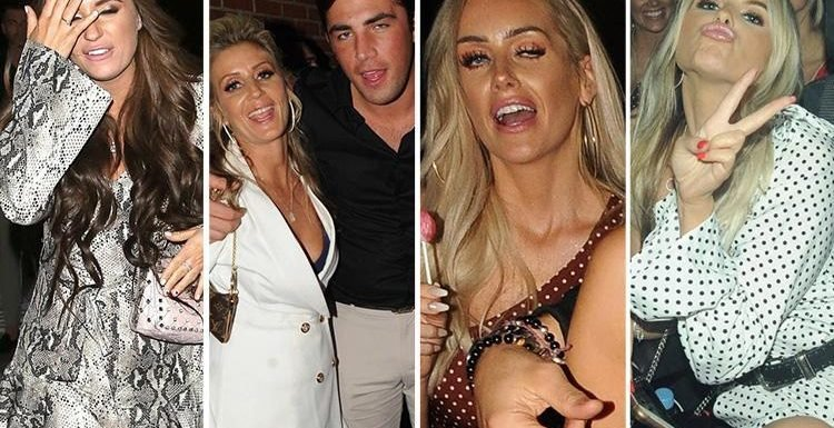 Dani Dyer looks all partied out as she leaves In The Style clothing launch with boyfriend Jack Fincham, mum Jo Mas and fellow Love Island stars