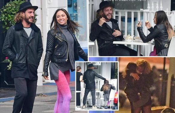 Strictly's Katya Jones and Seann Walsh spotted enjoying flirty lunch just hours before their drunken snog