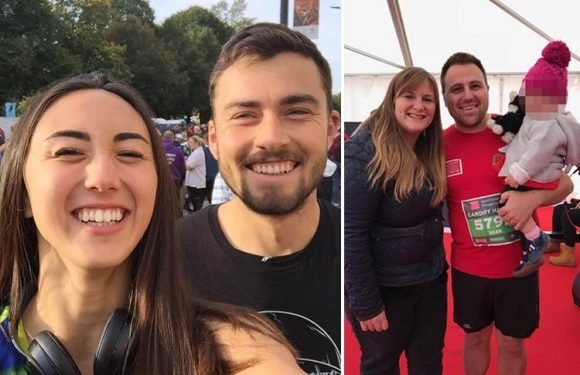 First picture of second runner to die after collapsing on Cardiff Half Marathon finish line as his wife and young daughter cheered him on
