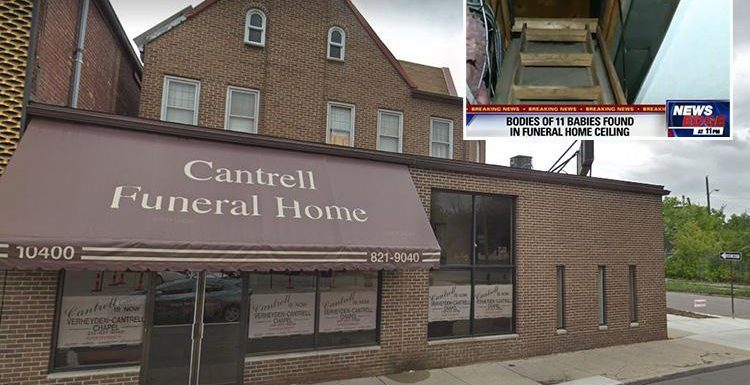 Decomposed bodies of 11 babies found in CEILING of Detroit funeral home after tip-off letter