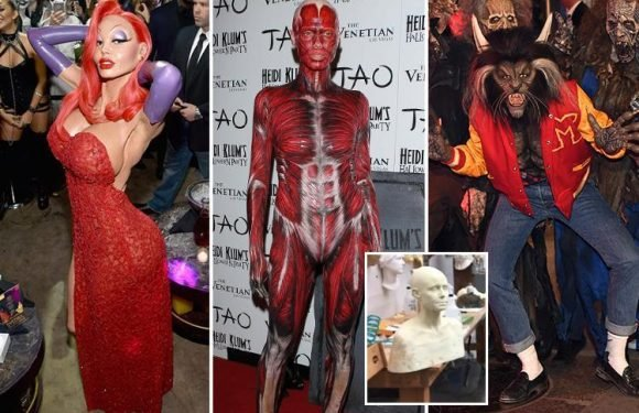 As Heidi Klum teases her latest Halloween costume take a look back at some of her most spectacular transformations