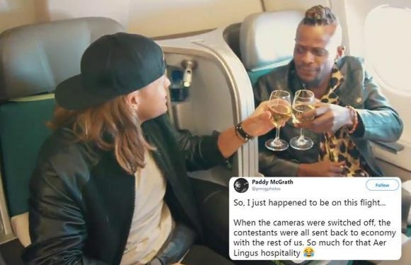 X Factor hit by 'fakery' scandal after contestants were filmed flying first class before being 'sent back to economy'