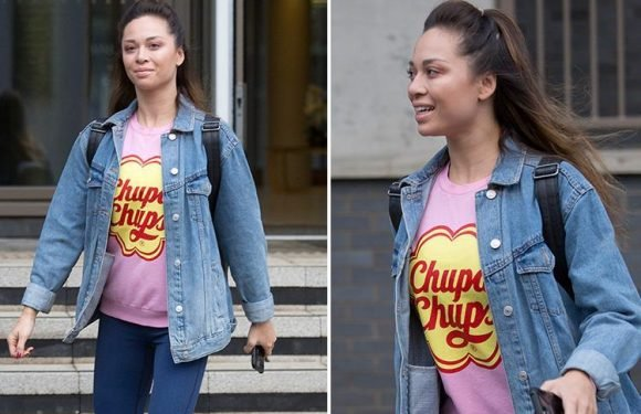Katya Jones leaves home without husband Neil as she heads to Strictly rehearsals with Seann Walsh
