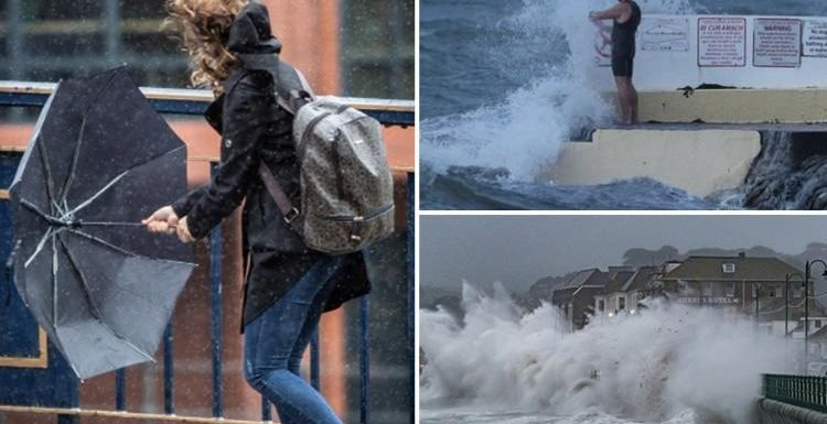 Storm Callum causes chaos with 77mph gales and torrential rain – but 24C sunshine is on the way TOMORROW