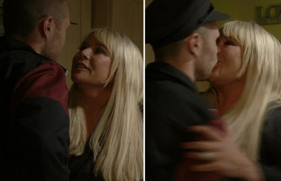EastEnders fans cringe as Sharon Mitchell 'forgets her clothes' in awkward sex scene with Keanu Taylor