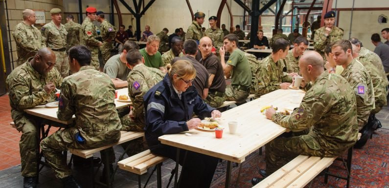More than 30,000 troops are dangerously overweight after tucking into three meals a day including full English and chips