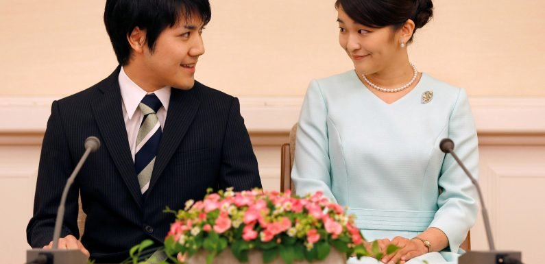 When is Princess Mako's wedding, who is her fiance Kei Komouro and why was their marriage delayed?