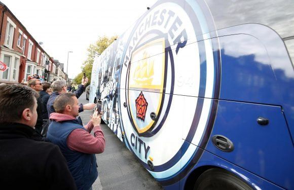 Manchester City bus arrives at Anfield for blockbuster clash without issue – but Kevin De Bruyne isn't in squad