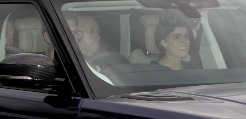 Princess Eugenie arrives at Windsor Castle ahead of her Royal Wedding to Jack Brooksbank tomorrow