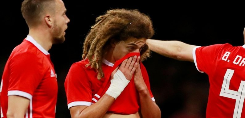 Chelsea star Ethan Ampadu hobbles off for Wales against Spain in frustrating injury blow for teenager