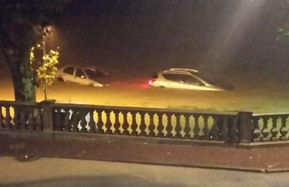 France floods leave five dead as Hurricane Leslie lashes Portugal and Spain with downpours and 125mph winds