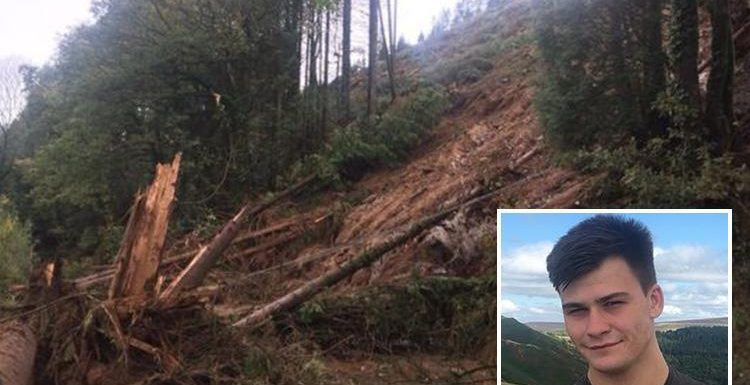 Storm Callum – Man in his 20s killed by falling rocks in Wales landslide had just got off bus to look at devastation
