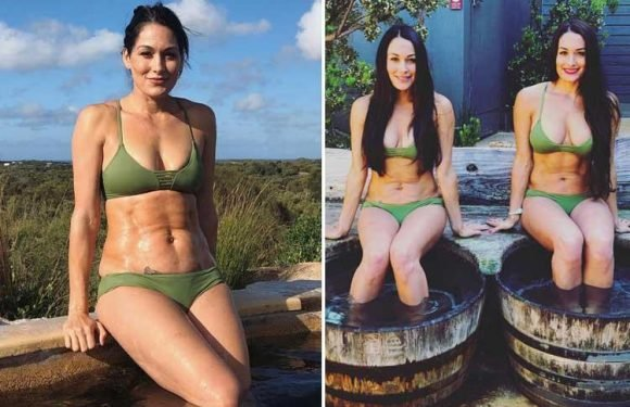 WWE stars Nikki and Brie Bella stun in matching bikinis as pair relax in Australia ahead of Super Show-Down
