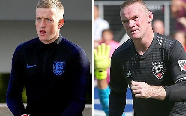 Jordan Pickford remembers his first England call-up well… because Wayne Rooney took a picture of him looking terrified