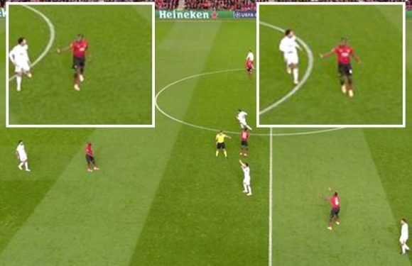 Manchester United star Paul Pogba has on-field bust-up with Romelu Lukaku over lack of movement up front during Valencia clash