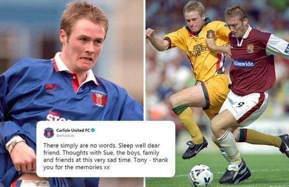 Carlisle United lead tributes as former footballer Tony Hopper dies at 42 after battle with MND