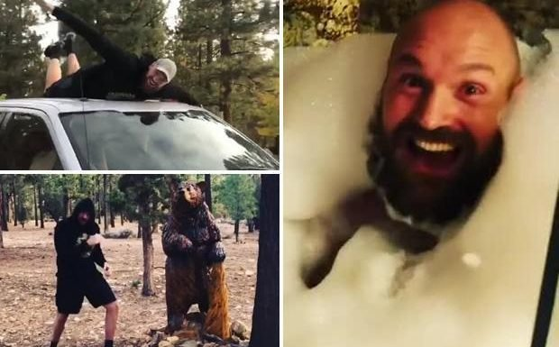 Tyson Fury turns gruelling Big Bear training base into laugh-a-minute holiday camp