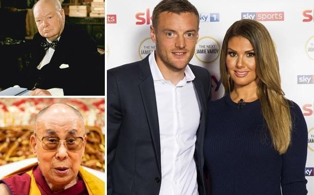 Jamie and Rebekah Vardy to follow in footsteps of Sir Winston Churchill and Dalai Lama by addressing Oxford Union