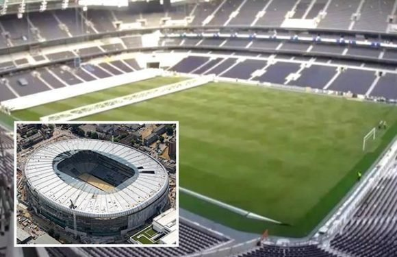 Tottenham have installed goalposts at their new stadium as excitement builds ahead of opening