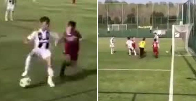 Cristiano Ronaldo Jr scores wonder goal for Juventus youth side in strike even dad would be proud of