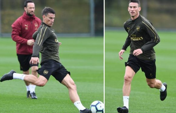 Arsenal boost as Laurent Koscielny returns to training ahead of schedule exciting fans over possible Premier League title run