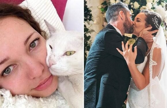 Married At First Sight's Stephanie trolls ex Ben Jardine on their first wedding anniversary as she spends it makeup free in bed alone ahead of their divorce