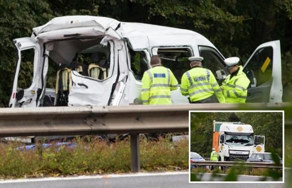 M4 Berkshire crash – two killed in crash between lorry and a minibus worked at specialist autism school