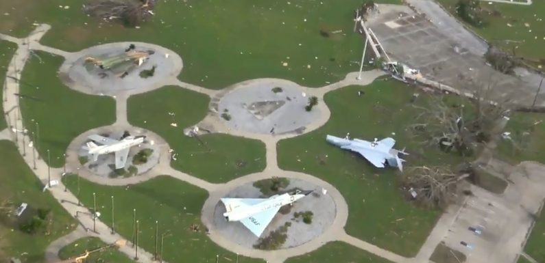 Hurricane Michael demolished this Florida Air Force base