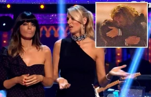 Strictly's Claudia Winkleman kicks off with gag about Seann Walsh and Katya Jones snogging scandal as she jokes about their 'quiet week'