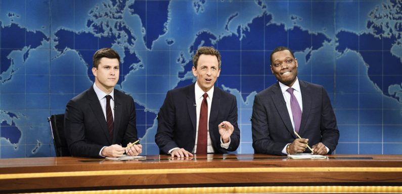 Seth Meyers Made an Epic Return to the SNL Weekend Update Desk — Yes, Really!