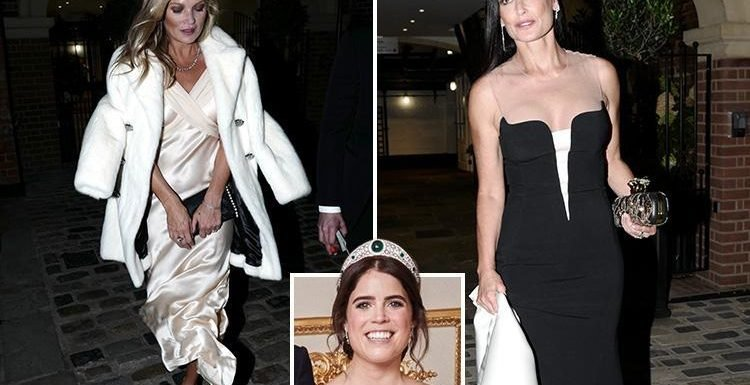 Princess Eugenie takes to the catwalk at her star-studded wedding reception