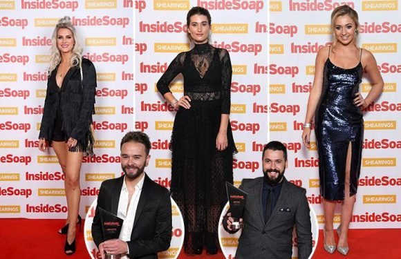 Coronation Street wins big at Inside Soap Awards as female stars ramp up the glamour for star-studded ceremony in London