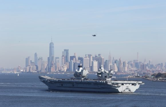 Royal Navy's largest ship makes a special visit to the Big Apple