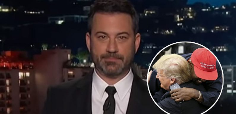 Jimmy Kimmel Marvels at 'Madman' Kanye West's 'Crazy Conversation' with Donald Trump