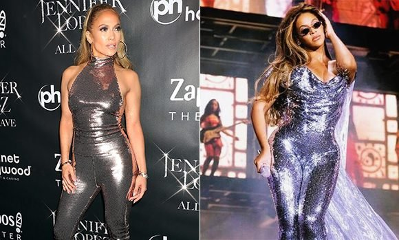 Jennifer Lopez Vs Beyonce — Who Rocked Skintight Sequin Jumpsuit Better? PICS