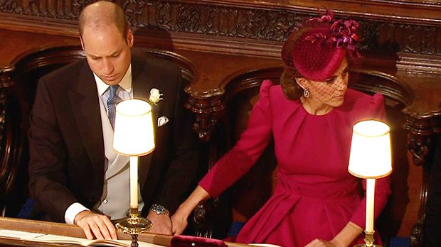 Prince William & Kate Middleton Hold Hands At Princess Eugenie's Wedding — See Rare PDA Moment