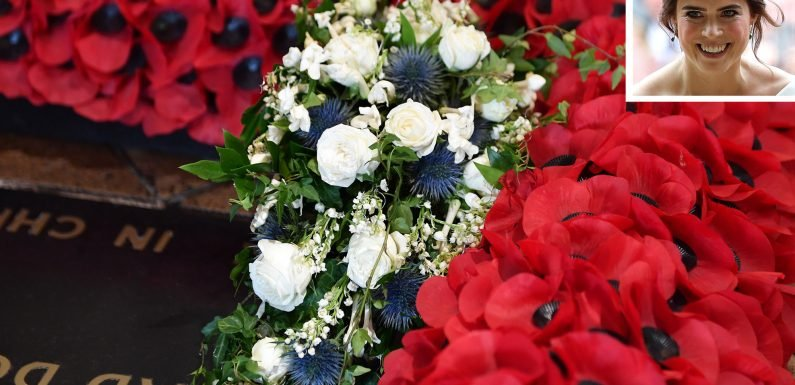 Princess Eugenie's Wedding Bouquet Placed on the Grave of the Unknown Warrior