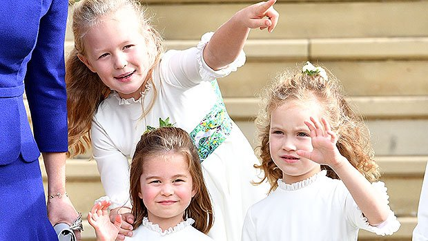 Princess Eugenie's Toddler Bridesmaids & Page Boys Stumble As The Wind Knocks Them Over