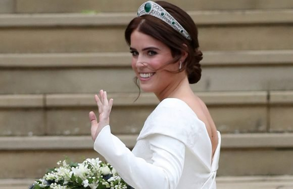 Princess Eugenie's wedding dress shows off her spinal surgery scar