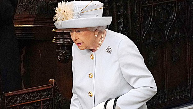 The Queen Wears Robin's Egg Blue Outfit For Princess Eugenie's Wedding