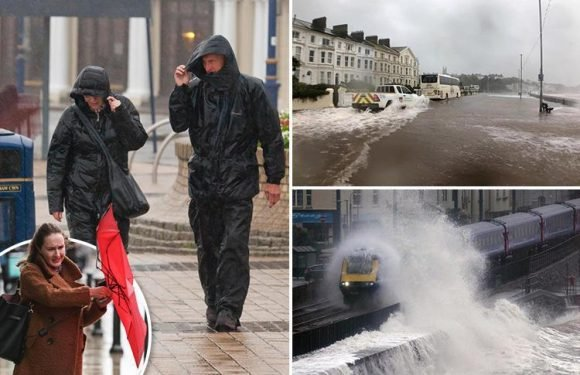 Storm Callum wreaks havoc with 77mph gales causing travel chaos, power blackouts and leaving trail of destruction across UK