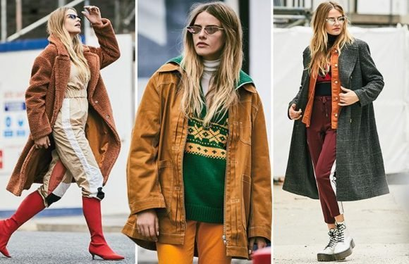 Borrow style tips from builders with boiler suits, boots and big knits on the high street